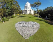 Heart-shaped installation reaches out to jailed leaders
